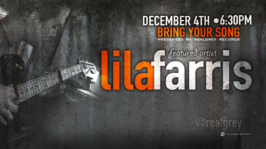 Bring Your Song Writers Night at Realgrey Records Featuring Lila Farris